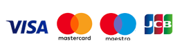 We accept Visa, Mastercard, Maestro and JCB card payments